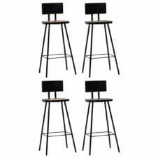 Bar Chairs 4 pcs Solid Reclaimed Wood Multicolour