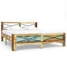 Bed Frame Solid Reclaimed Wood 160x200 cm