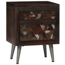 Bedside Cabinet Solid Reclaimed Wood 40x30x50 cm