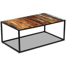 Coffee Table Solid Reclaimed Wood 100x60x40 cm