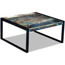 Coffee Table Solid Reclaimed Wood 80x80x40 cm