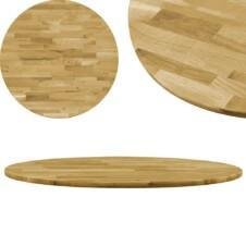 Table Top Solid Oak Wood Round 23 mm 900 mm