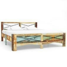 Bed Frame Solid Reclaimed Wood 180x200 cm