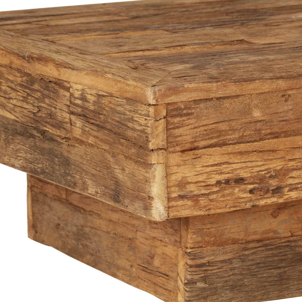 Coffee Table Solid Reclaimed Sleeper Wood 70x70x30 cm