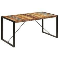 Dining Table 160x80x75 cm Solid Reclaimed Wood
