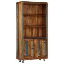 Highboard 90x35x183 cm Solid Reclaimed Wood