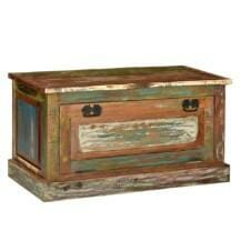 Shoe Storage Bench Solid Reclaimed Wood