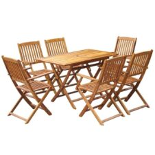 6 Seater Outdoor Garden Dining Set Solid Acacia Wood